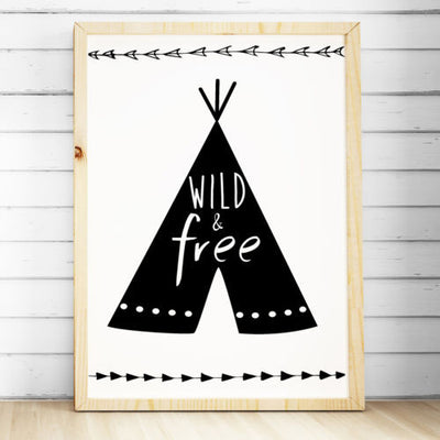 Wall Décor - Tribal Teepee Print - Wild & Free - The Kids Print Store