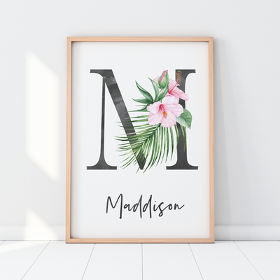 Nursery Prints, Girls Wall Art, Tropical Nursery