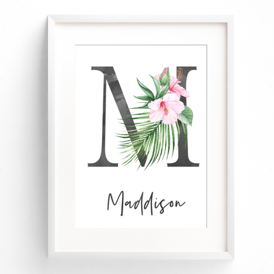 Nursery Prints, Baby, Girls Nursery Wall Art, Tropical Nursery