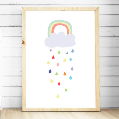 Girls Nursery Prints - Kawaii Cloud Print - The Kids Print Store