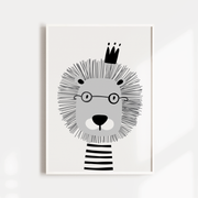 Scandi Lion, Bunny & Name Print