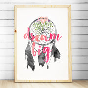 Watercolour Dreamcatcher Print - Dream Big