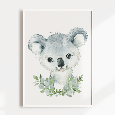 Baby Animal Nursery Wall Art Print - Koala