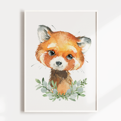 Baby Red Panda Nursery Wall Art Print
