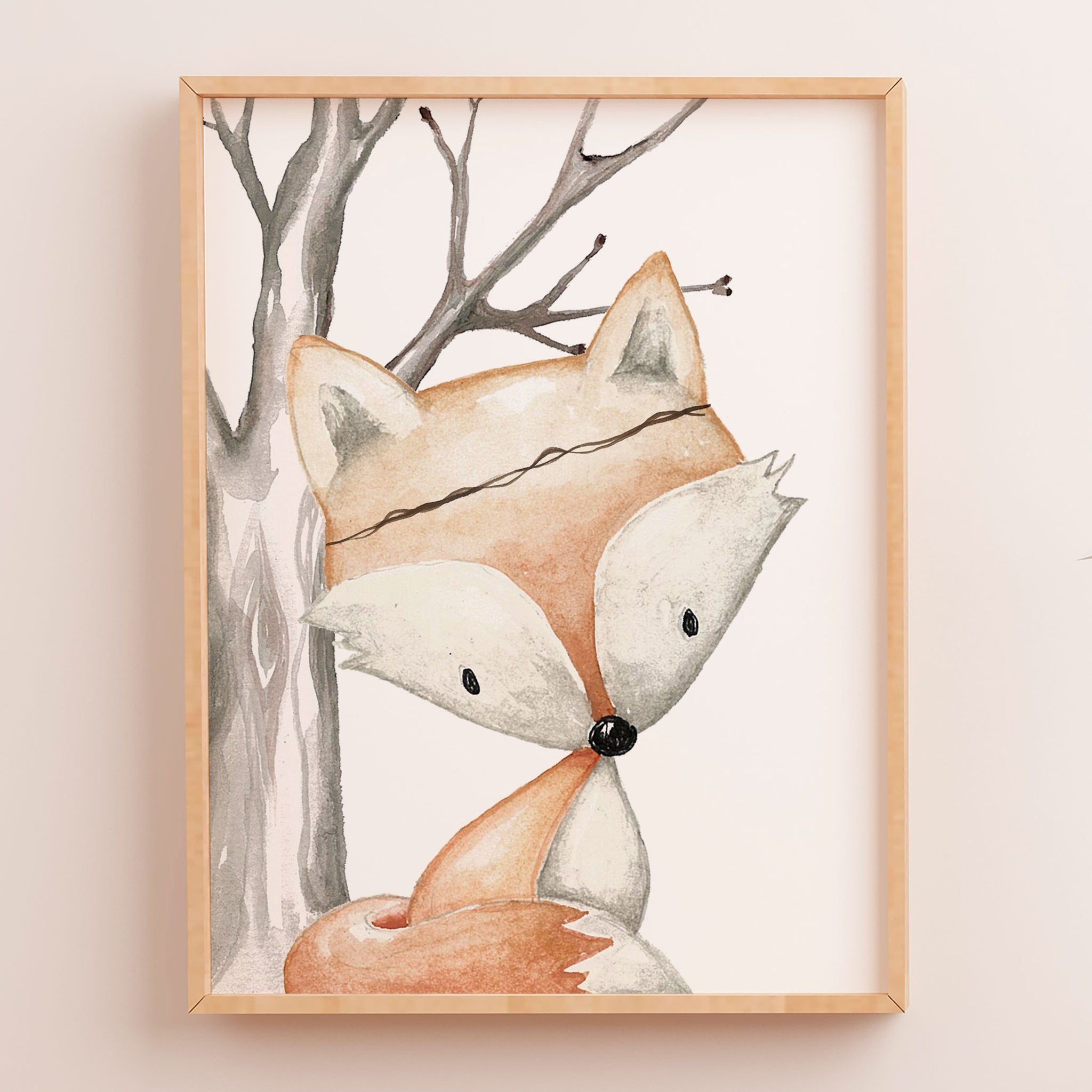 Genial Baby, Boys Woodland Fox Nursery Or Bedroom Wall Art Decor Print
