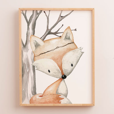 Woodland Fox Art Print