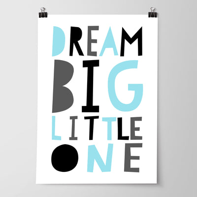 Boys Tribal Teepee, Arrows & Dream Big Little One Nursery or Bedroom Print Set