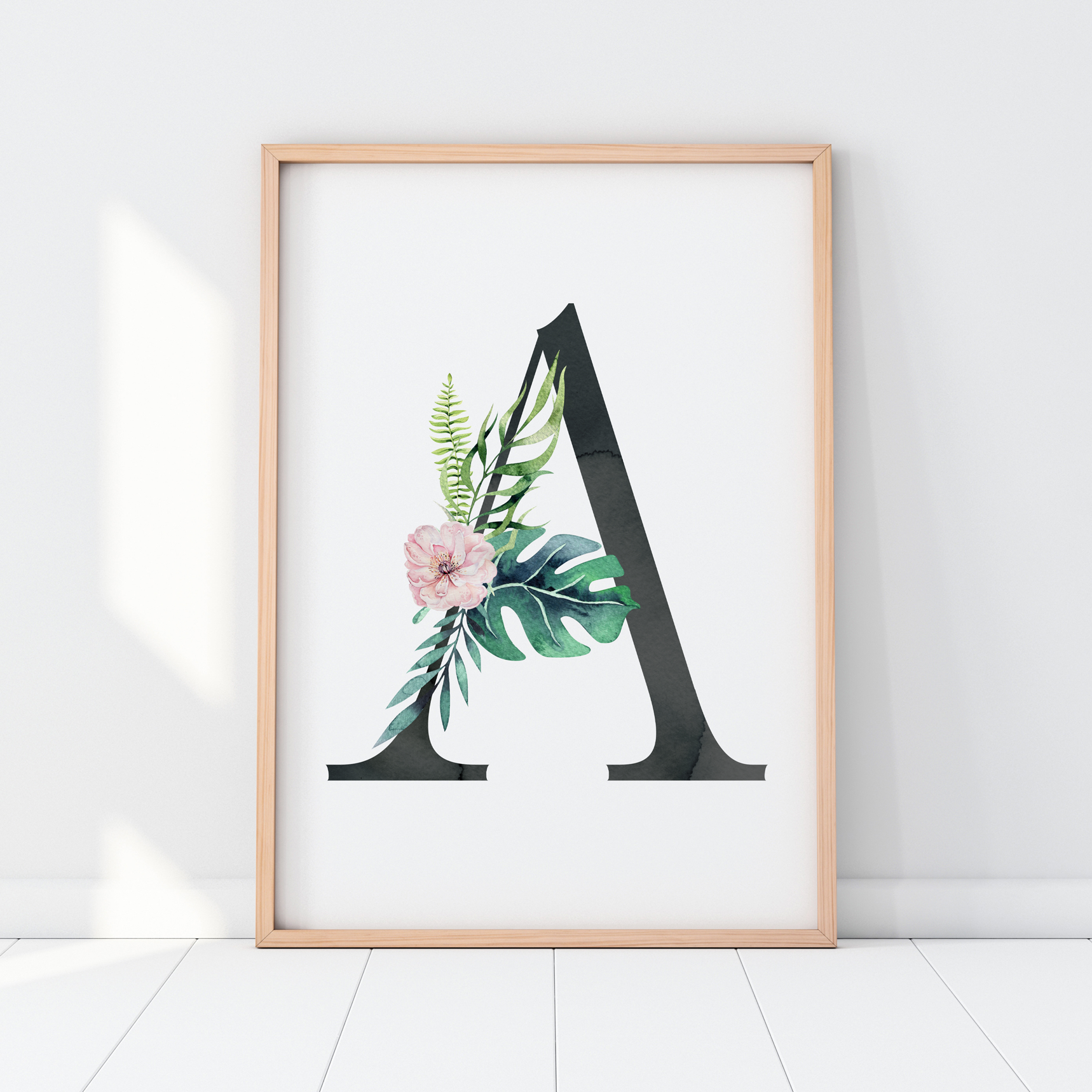 Girls Nursery prints, jungle nursery, tropical nursery