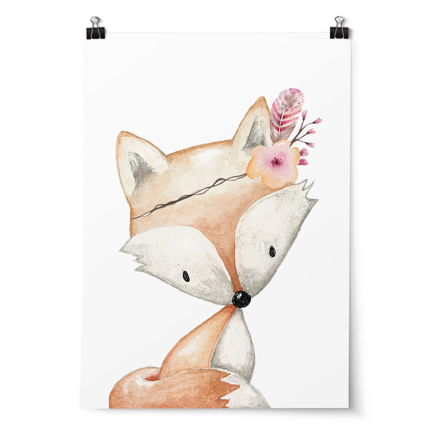 Woodland Animal Nursery Prints, fox, bunny, deer, set of 3