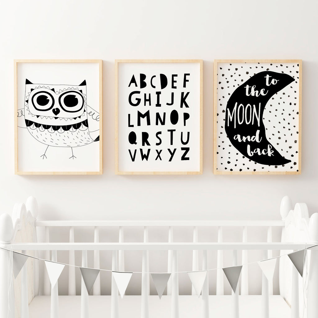 Baby Nursery Art Print Dog Abc Nursery Decor Alphabet Print: Baby Boys Girls Artwork Prints Online