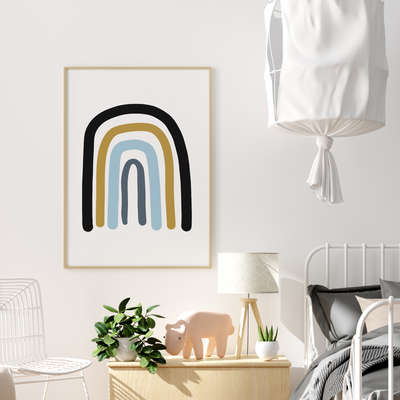 Boys rainbow Nursery Print