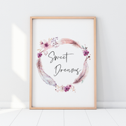Watercolour Flamingos - Set of 3 Nursery Prints - Sweet Dreams