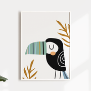Tropical toucan Nursery wall art print