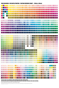 Free Resource: Digital Printing Colour Chart 150cm x 100cm