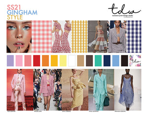 TREND Gingham Style A3 Digital File