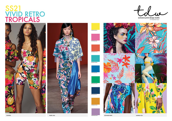 TREND Vivid Retro Tropicals A3 Digital File