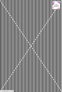 Stripe Vertical - 5mm - Black & White