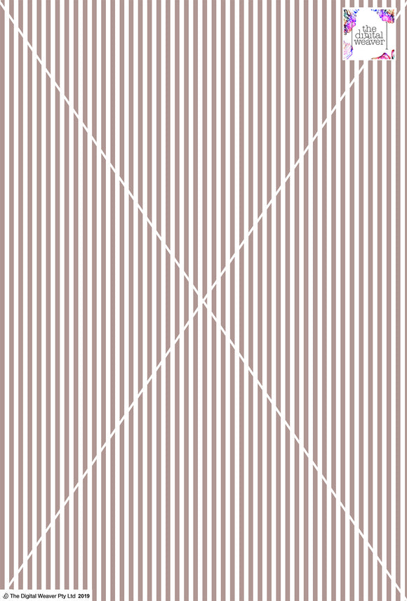 Stripe Vertical - 5mm - Latte & White