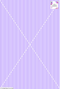 Stripe Vertical - 5mm - Lilac & White