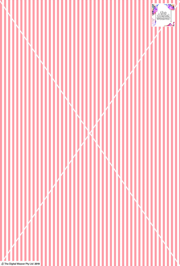 Stripe Vertical - 5mm - Rose & White