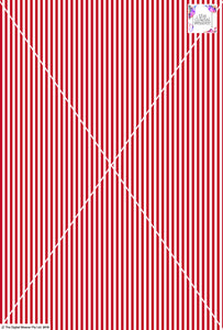 Stripe Vertical - 5mm - Ruby & White