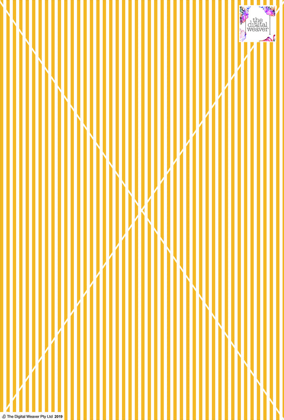 Stripe Vertical - 5mm - Sun Yellow & White
