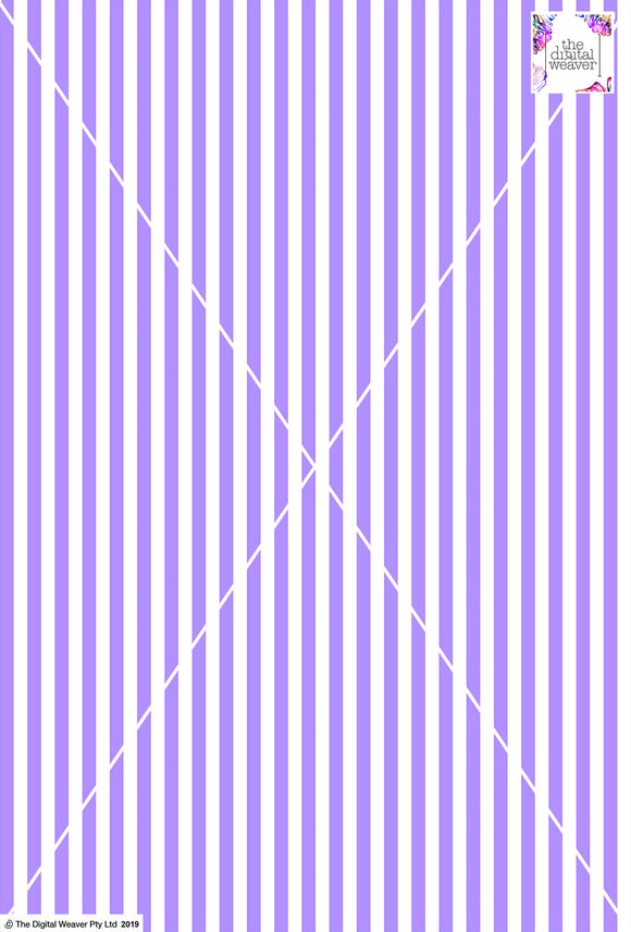 Stripe Vertical - 10mm - Lilac & White