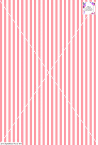 Stripe Vertical - 10mm - Rose & White