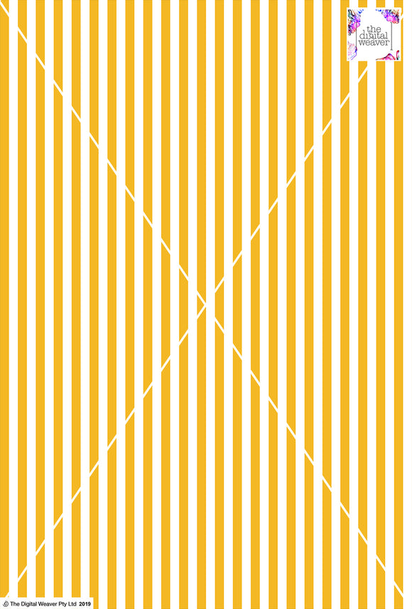 Stripe Vertical - 10mm - Sun Yellow & White