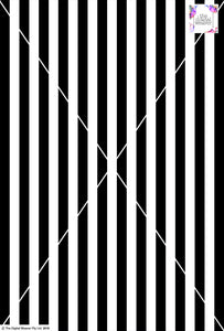 Stripe Vertical - 20mm - Black & White