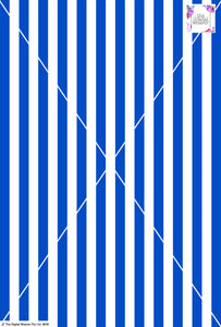 Stripe Vertical - 20mm - Cobalt & White