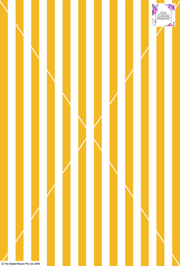 Stripe Vertical - 20mm - Sun Yellow & White