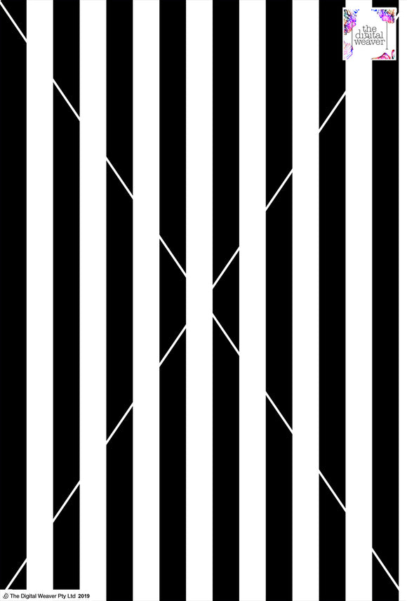 Stripe Vertical - 30mm - Black & White