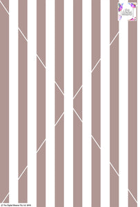 Stripe Vertical - 30mm - Latte & White