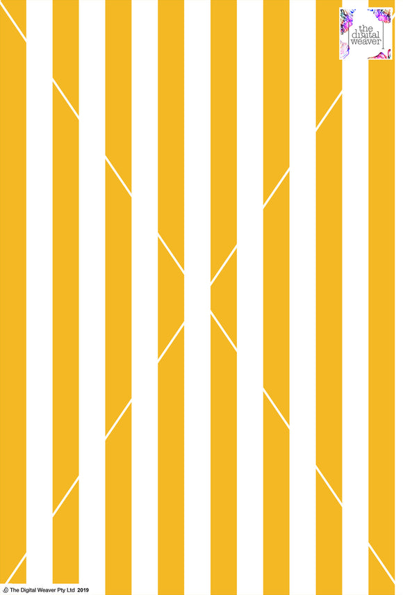 Stripe Vertical - 30mm - Sun Yellow & White