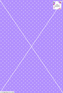 Spot Design - 3mm - Lilac & White