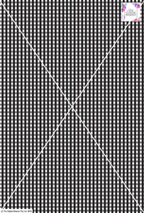 Gingham Check  - 5mm - Black & White