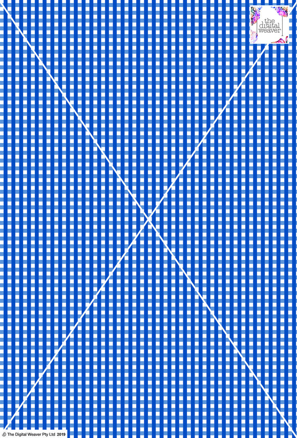Gingham Check  - 5mm - Cobalt & White