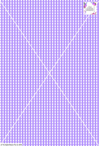 Gingham Check  - 5mm -  Lilac & White
