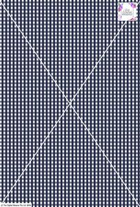 Gingham Check  - 5mm -  Navy & White