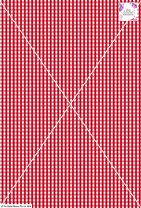 Gingham Check  - 5mm - Ruby & White