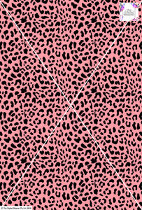 Cheetah Design - 20mm - Rose & Black