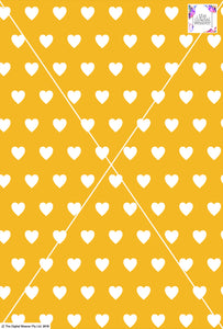 Heart Design - 3cm - Sun& White