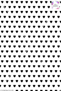Heart Design 2cm - White & Black