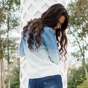 Dip Dye Denim Shirt