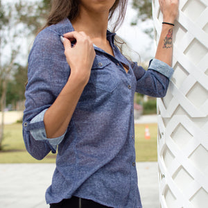 Thin Blue Denim Shirt