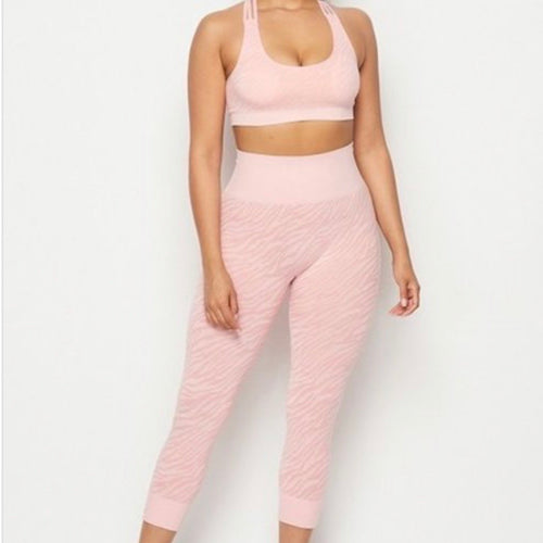 Zara workout set-pink