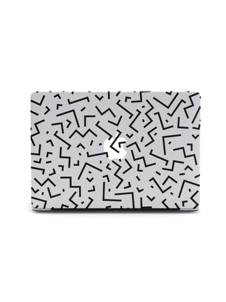 Jigsaw Black MacBook Case