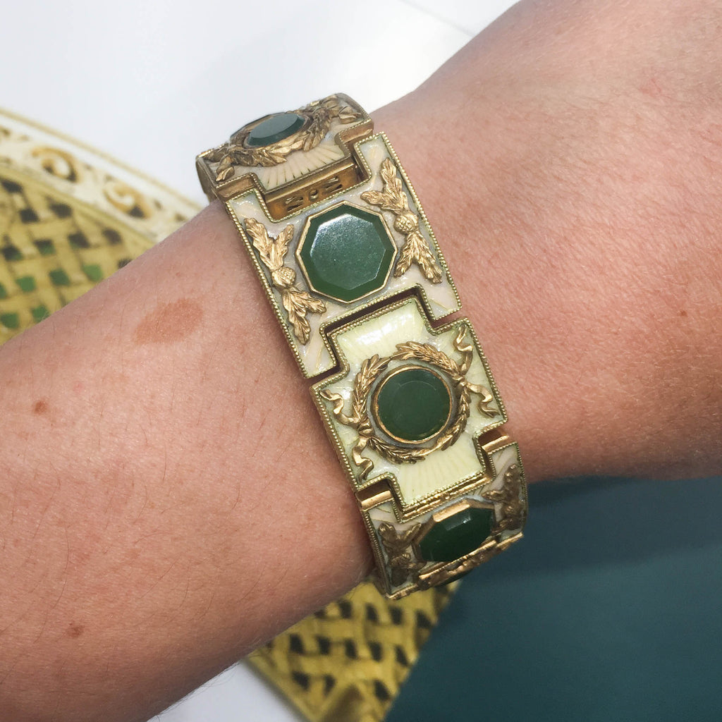 Uncommon Finds -   Caesar Bracelet and Gold Scripture Book