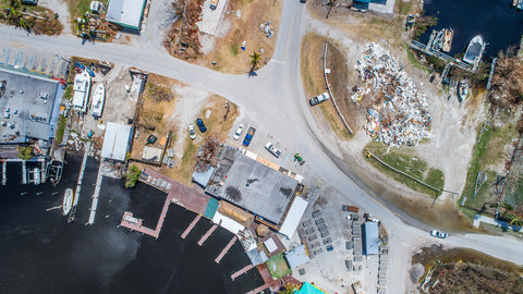 Aerial View of Damage in Goodland post Hurricane Irma